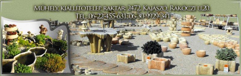 Műhely, kiállítótelep, raktár: 2472. Kajászó, Rákóczi u.20. Tel.: 06-22-455-631; 06-30-9929-341