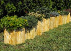 Beültethető kéreg kertszegélykő (135)